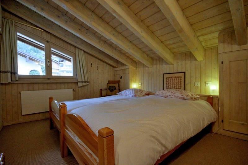 Bedroom in verbier rental chalet property