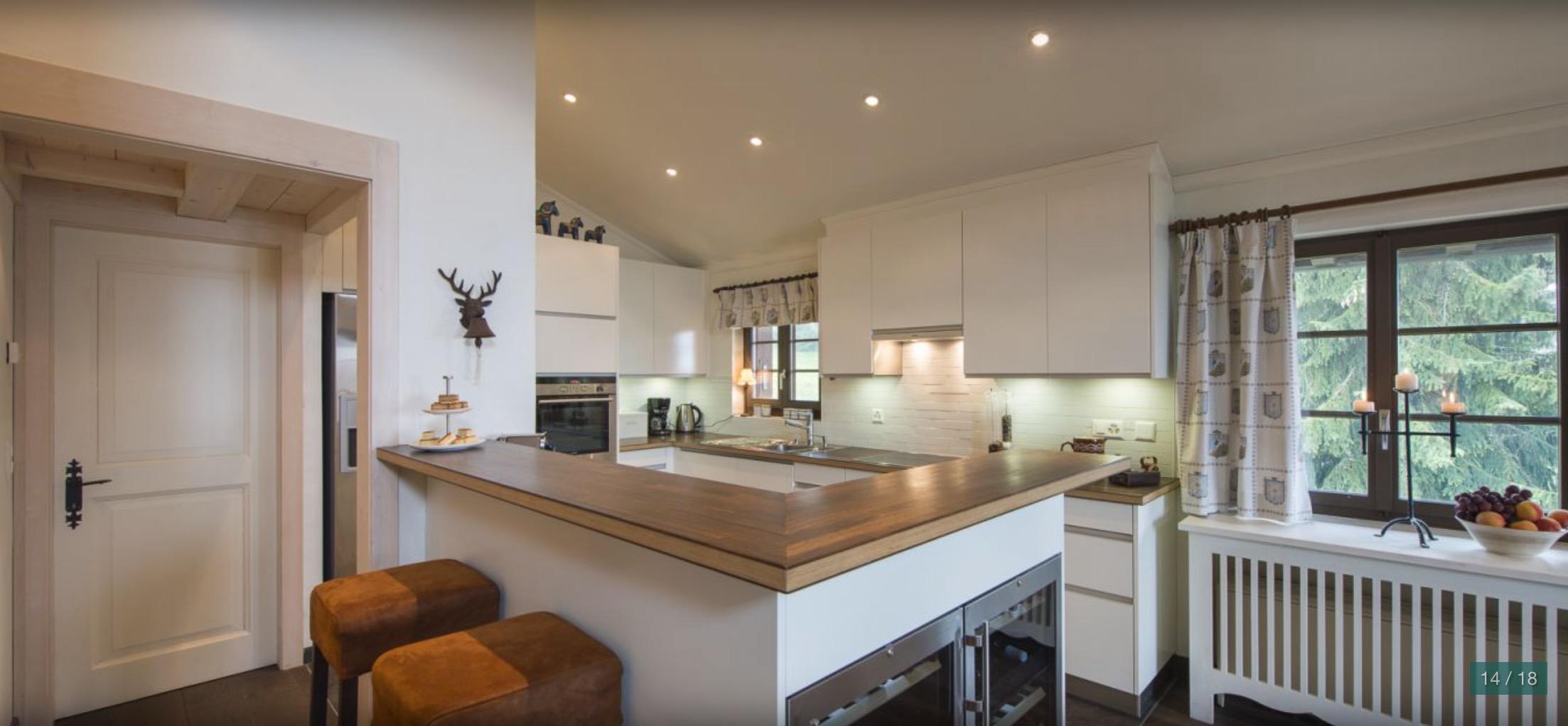 Fayard kitchen verbier chalet apartments for rent