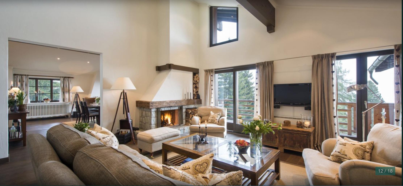 Penthouse Fayard livingroom verbier properties