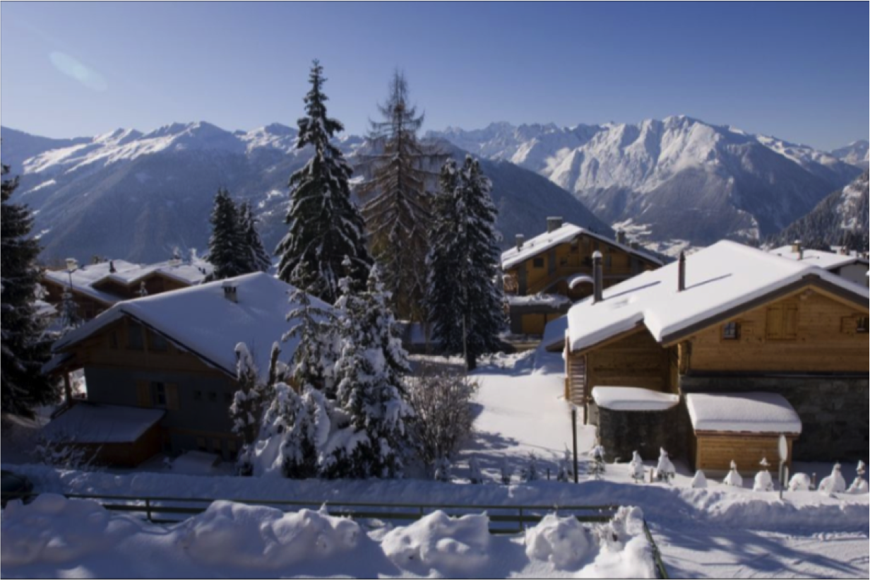 Fayard view verbier of snow with tree