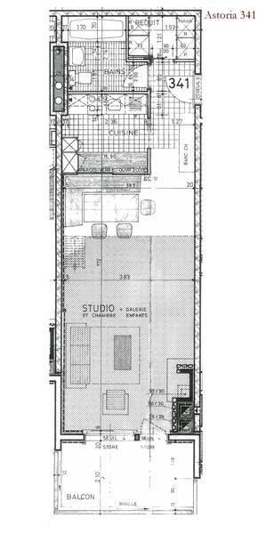 The floor plan of chalet verbier