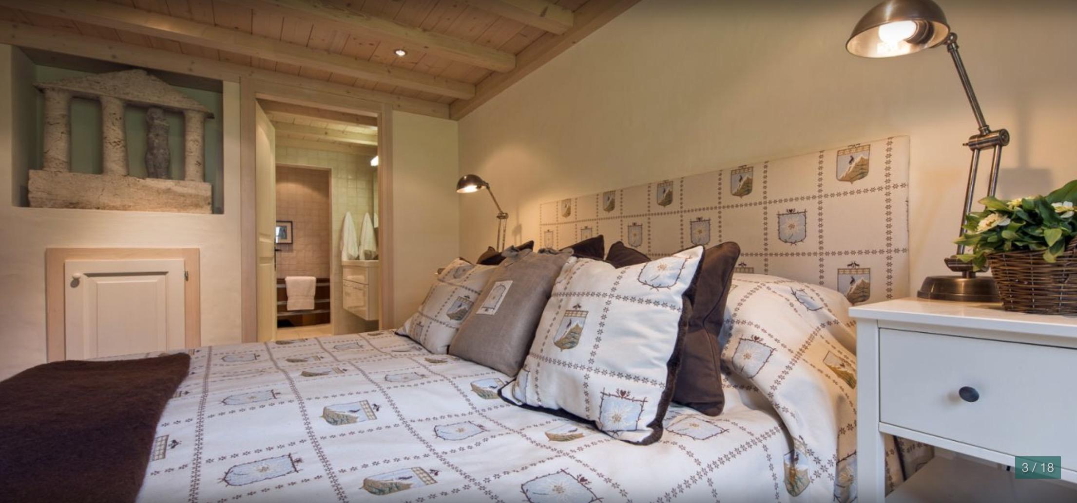 Pentahouse fayard master bedroom verbier