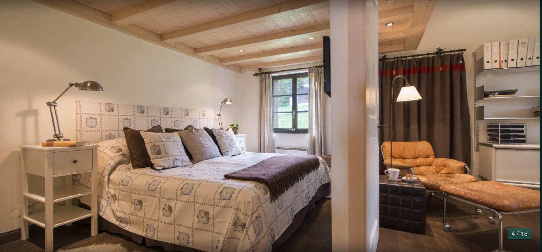 Pentahouse fayard master bedroom with impressive bedsheet