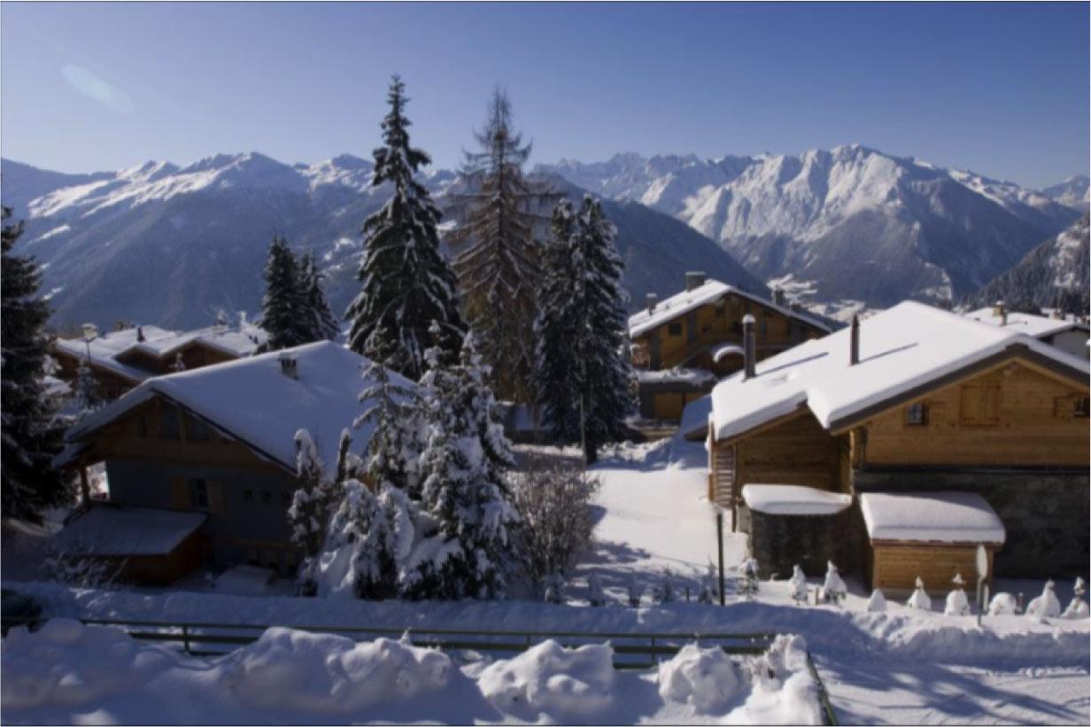 Pentahouse fayard verbier ski chalet for sale in snow falll