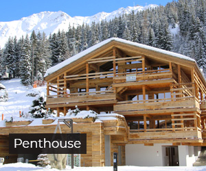 Here you explore four penthouse properties in Verbier