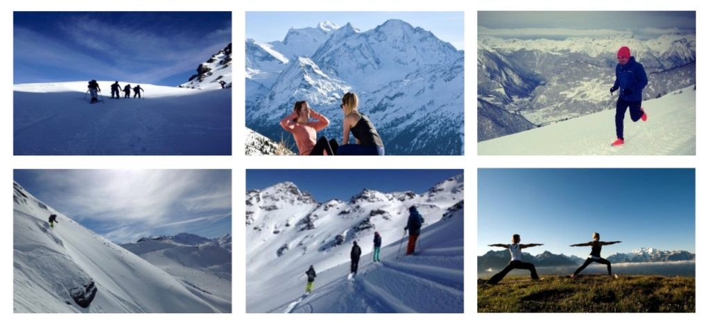 People enjoying in verbier and doing fitness work also