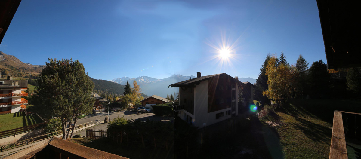 Look gelinottes verbier with sun light