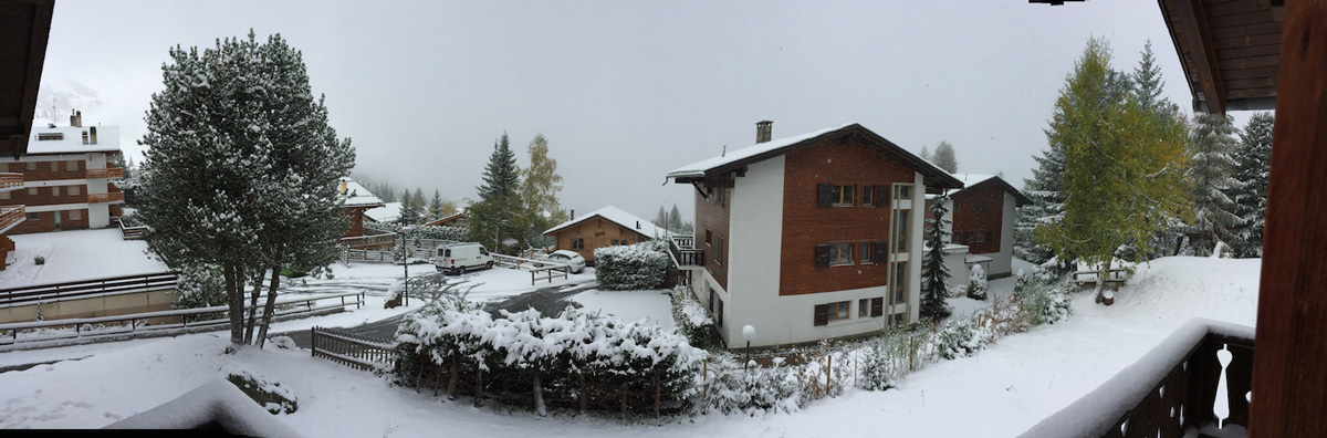 Circular looking of winter season in Verbier